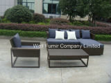 Cheap Rattan Furniture/Wicker Sectional Sofa Set/Poly-Rattan Sofa Set with Coffee Table - Grey