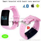 Health Care Bluetooth/Digital Smart Bracelet/Watch with Heart Rate D21