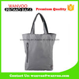 Durable Canvas Cotton Fabric Shopping Bags with Small Zipper Layer