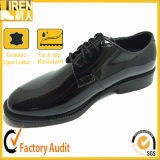 Micro Fiber High Gloss Military Office Shoes