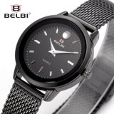 Luxury Business Nail Face Design Women Quartz Wristwatch Stainless Steel for Ladies Jewels Gift Gold, Black, Silver Three Color Brand Name Belbi