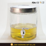 Wholesale Drinking Dispenser Glass with Tap Jumbo Glass Jar
