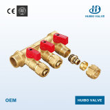 Brass Manifold 3/4′′-1′′inch for Water Distribution