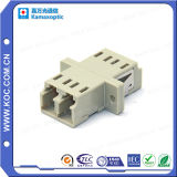 LC Multimode Duplex Fiber Optical Adapter with Flange