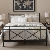 Simple Metal Bed Bedroom Furniture (OL17204)