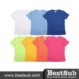 Promotional Women′s Round Neck Short Sleeve Polyester T-Shirt (JA104)