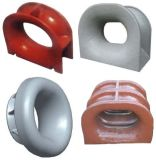 Marine Cast Steel Fairlead Roller Guide Roller with Stand Single Roller with Socket Class Approved Fairlead Chock with Competitive Price