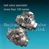 Stainless Steel 3-Way Ball Valve with Reduced Port