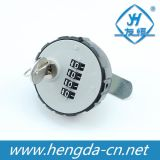 Round Plastic Cover Combination Lock with Lock Core (YH1210)
