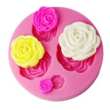 Fondant Decorating Mould 3D Rose Cake Decorating Supplies Color Pink