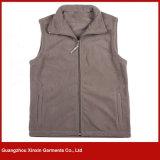 Csutom Cheap Fleece Sleeveless Jacket, Polyester Warm Fleece Vest for Sport (V37)