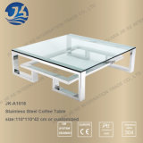 Polished Stainless Steel or Old Penny Bronze Glass Coffee Table
