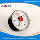 Mini Axial Normal Pressure Gauge with Red Fixed Pointer