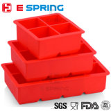 Creative Styling Tools Party Bar Whiskey Cocktail Frozen Ice Maker Square Silicone Ice Cube Tray with Lids