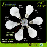 China Supplier LED Plastic Bulb Light Ce RoHS Energy Saving LED Bulb Light High Power 9W SMD5730 LED Bulb