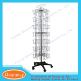 Powder Coated Floor Standing Metal Wire Greeting Card Display Rack