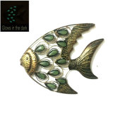 Glows in The Dark Fish Shaped Wall Decoration for Garden