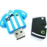 Customized USB Flash Drive Coat Cloth PVC Soft Rubber to Protect USB 128GB