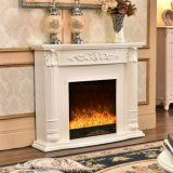MDF Hotel Furniture Sculpture Heating Electrical Fireplace with LED (339)