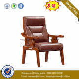 Living Room Office Furniture Wooden Artifical Leather Gust Chair Ns-CF004