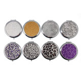 Wholesale Gift Beauty Silver Compact Mirror for Promotion Gift Cm-1014