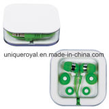 Promotional Earbuds in Clear Square Case