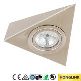 Satin Nickel Triangle Surface Mounted Cabinet G4 12V 20W Halogen Cabinet Light