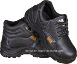 Half Embossed Leather + Half PU Safety Work Shoes with High Ankle and Low Ankle