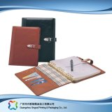 Office/Business Stationery Leather Cover Notebook with Pockets & Pen (xc-stn-020)