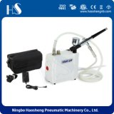 HS08AC-Skc Manufactory Supplier Airbrush Compressor Kit Dual Action Spray Air Brush Gun Set Nail Art Tattoo