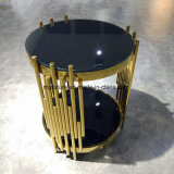 Luxury Well-Propotioned Small Cylinders Decoration Round Metal Side Table