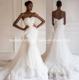 2017 Tulle Wedding Dresses Mermaid Lace Bridal Ball Gown A108
