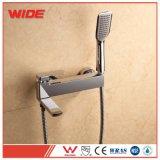 Chrome Wall Mounted Bathroom Rain Shower Faucet Set Bathtub Mixer Taps with Spout