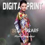 2017 Top Quality Newest Shawl Style Digital Printing Silk Scarf