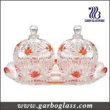 Glass Jar and Tray Set& Gift Glass/Glassware Set (TZ-GB1718MI-P2)