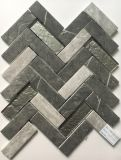 Newest Technology Ink Jet Printing Herringbone Glass Mosaic Tile