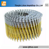 Wire Welded Wooden Yellow Coated/Galvanized Pallet Roofing Coil Nails