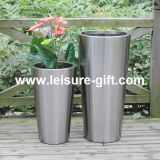 Tall Tapered Stainless Steel Pot Planter (FO-9001)
