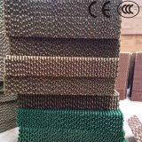 Green Brown Color Evaporative Air Cooler Pad / Cooling Pad for Air Cooler