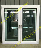 White Color Solid Timber Window, Good Heat-Insulation and Sound-Insulation Performance Solid Wood Window