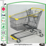 180L Hypermarket Metal Shopping Cart Trolley Best Quality