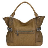 Studded and Embossed Faux Ostrich Hobo Handbags (MBLX033066)