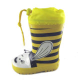 Fashion Children's Rubber Boot with Yellow Collar