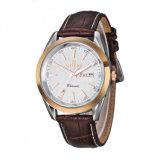 316L Stainless Steel Caseback Quartz Leather Wrist Watches