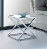 Modern Glass Coffee Table Stainless Steel Base Marvelous Stainless Steel End Side Table