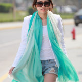 Silk & Modal Dipped Dyeing Shawl Fashion Scarf (12-BR030820-1.4)