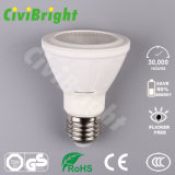 China Factory 7W E27 White LED PAR20 Light
