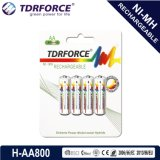 1.2V Rechargeable Low Self Discharge Nickel Metal Hydride China Fatory Battery (HR6-AA 800mAh)