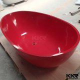 New Design Big Bowl Shaped Solid Surface Round Bath