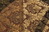 Brown Jacquard Textile Fabric with Coating (FTH31180A)